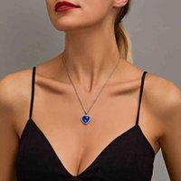 Kolye Sumeng titanik okyanus mavi kalp aşk sonsuza kolye kadın erkekler takı hediye için
