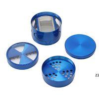 Diámetro 63mm Zinc-aleación 5colors Color Diente Cajón Ventana Apertura Tabaco Grinder Molino Humo Spice Crusher Maker HWA6089