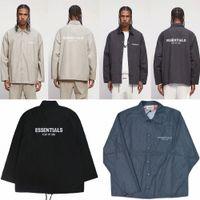 Двойные мужские куртки трек туманный туманный куртка ветровка повседневное пальто заводской розетки 2021 мужская страх богословного одежды Essentials сезон 07 R5EP #
