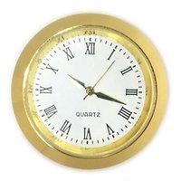 2021 35mm mini insertion d'horloge montre à quartz mouvement gold argent métal ajustement horloge insertion d'horloge de mautéraux romains accessoires de gros