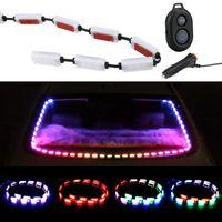 Auto Atmosphere Lamps Sound Music Control Decorative Warning Light Car RGB LED Strip Interior Lights Interior&External