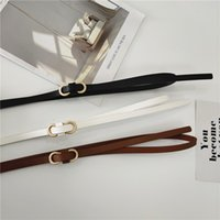 Chant de la mode Chantwomen Swewomen Pull Poly-Versa Mince Belt Knot Décoration de PU avec jupe Numéro de Femme Black coréen