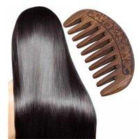 Tascabile in legno naturale oro nero sandalo superwood super stretto dente Senza pidocchi statici barba pettine strumenti per lo styling capelli