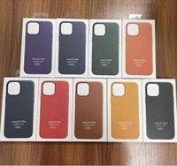 Magsafe 기능 PU 가죽 커버 공식 원래 케이스 iPhone 12mini 12 13 Pro Max 11 XS XR 6 8 Plus 휴대 전화 케이스