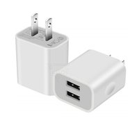 Dual USB Charging Block 2 Ports Fast wall charger EU US Phone Travel Power Charger Adapter For iphone Samsung Smartphones