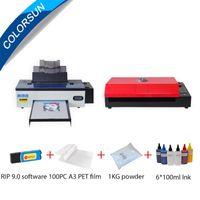 Colorsun A3 DTF Printer R1390 + PET فيلم فرن نقل حزمة الطباعة كيت مباشرة لطابعات تي شيرت