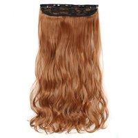 Clip sintetiche in estensioni dei capelli 5clips 22 pollici 120g un pezzo coda di cavallo in fibra ad alta temperatura parrucchieri per le donne