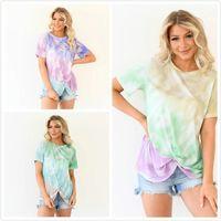 Fashion Designer T Shirt Digital Printing Digital Collo tondo conico Knot Color Colour Colour Coloring Manica corta Tees Polos