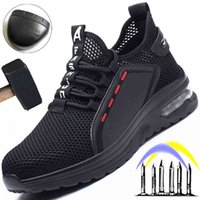Boot Summer Breathing Safety Shoes Men Air cushions Work Sneakers Anti Lek Men's Steel Nose Protective 0802