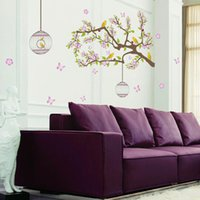 Wall Stickers Cute Animal Tree Self Adhesive PVC Waterproof Art Decal Decor Living Room Bedroom Removable Sticker Murals
