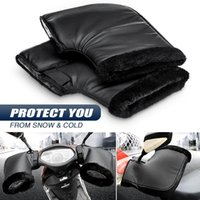 Motorcycle Windproof PU Winter Thick Warm Handlebar Muffs Thermal Cover Gloves Universal for Motorcycles, Scooters