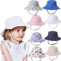 Caps & Hats Summer Children Fisherman Hat Fashion Sun Toddler Kids Baby Boys Girls Colorful Sunscreen Cap Bucket