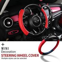 Для Mini Cooper R55 R56 R60 F54 F55 F56 F56 F60 One Clubman Countryman 38см рулевого покрытия крышки крышки рулевого колеса