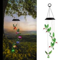 Solar Lamps Color-Changing LED Powered Wind Chime Lights Yard Garden Decor Hanging Lamp Outdoor Porch Terrace Party Novelty Light