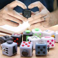 Fidget Cube Toys Stress Relieve Squeeze Diversión Divertido DiscomPresión Juguete Ansiedad Aburrimiento Atención Magic Taread Regalo
