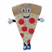 Professional PIZZA Mascot Costume Halloween Christmas Fancy Party Dress Foods Cartoon Character Suit Carnival Unisex Adults Outfit