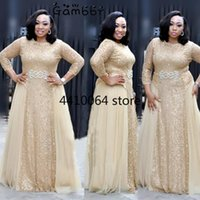 Ethnic Clothing High Quality Elegant African Women Plus Size 3XL Evening Tunic Party Dress Formal Sequined Long Vestido De Festa
