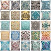 Cuscino / cuscino decorativo boho arte fiore splendido floreale diamante doodle botanico natura marocchino modello retrò auto cuscino copertura divano thro