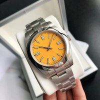 Impermeable 36 mm de alta calidad Moda para hombre Reloj de mujer Fecha de zafiro Mecánico Relojes automáticos Vestido de las señoras Strap de acero inoxidable Pulsera Reloj de pulsera Bolsas