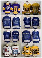 Descuento Hombres Mujeres 97 Thornton 88 Nylander 34 Matthews 16 Marner 11 Kopitar 99 Gretzky Best Sports Yakuda Hockey Jerseys 88 Pastrnak 79 Hart Hockey Hockey Wear