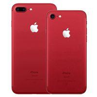 Couleur rouge rénovée Apple Apple iPhone 7/7 plus avec empreintes digitales 32/128 / 256 Go ROM Quad Core 12MP Caméra 4G LTE Smart Phone DHL 5PCS