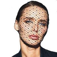 Gelin Veils Fascinator Kristal Boncuklu Birdcage Siyah Kafa Saç Aksesuarları Düğün Beyaz Yüz Net Maske Büyüleyici