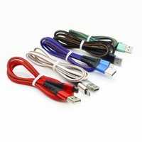 2.4A Two-in-one charging data transmission mobile phone Cables zipper braided fabric line for Type-C Android USB cellphone