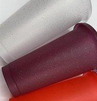 16 أوقية بريق اللون كأس طرفة البلاستيك شرب البهلوانات مع غطاء والقش الحلوى الألوان قابلة لإعادة الاستخدام الباردة المشروبات كوب أطفال بهلوان dhl dh110