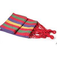 Taşınabilir Açık Bahçe Hamak Asmak Yatak Seyahat Kamp Salıncak Yürüyüş Tuval Şerit Hamak Asılı Bed DWD6145