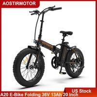 US Astirez-vous A20 Batte à vélo électrique 36V 13Ah Batterie au lithium 500W Ebike 20 Pièces 4,0 Fat Tire City Beach Cruiser vélo