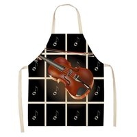 Electric Guitar Music Symbol Apron Baking Accessories Kitchen Women Dress Cute Cafe For Men Linens Aprons