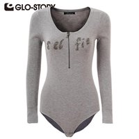 Glo-Story Femmes Combinaisons 2021 Chic Sexy Pull à manches longues Skinny Bodysuits Body Rompeurs WMY-3313 Femmes