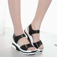 Sandals Summer Waterproof Joker Students Shoes Woman Wedges With Thick Bottom Female Flat Zapatos Mujer