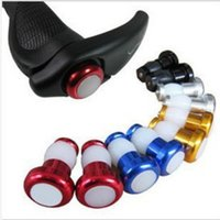 1 Pair Bicycle Handlebar End Plug LED Red Light Aluminum Alloy Safety Cycling Bike Turn Signal Lights Lamps Bike Accessories