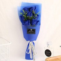 Creative bouquets of rose flower simulation soap party favor...