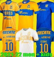 2122 مونديال دي نوادي UANL TIGRES جنيه لكرة القدم الفانيلة الرجال أطقم الاطفال Vargas المنزل Tercer Pizarro Mexico Football Shirts
