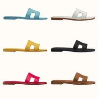 Mulheres Oran Sandal Slides Designer Clássico Chinelos Planos Vermelho Cartoon Cartoon Real Ladies Ladies Verão Sapatas Sexy Sapatos Grande Tamanho Grande US 4-12 com Box 278