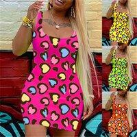 النساء اللباس الصيف السباغيتي حزام أكمام المطبوعة السيدات vestidos عارضة نحيل الحلوى لون المرأة فساتين bodycon