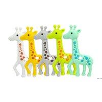 New GiRaffe Nuckers Silicone Teething Baby Safe Heafant Ожерелье Жевательные Бусины Милые Сика Олень Tehher Toys Toys Душевые подарки HWF6400