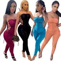 2021 المرأة حللا الصيف ضمادة الأزياء ارتداءها عارضة مطوي السروال القصير 149
