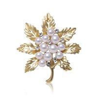 Foglie perla elettrostata in oro opaco argento argento spilla figlia diamante spilla spilla