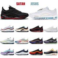Nike Air Max 97 Boyut 46 nike air max 97 airmax x off white Erkekler Kadınlar Triple s Beyaz Gazete Sean Wotherspoon MSCHF INRI İsa yenilgisiz UNDFTD Sneakers x Koşu Ayakkabıları