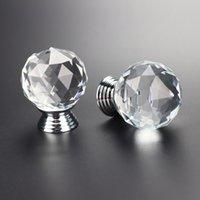 Dresser crystal Knob drawer decorative corner cabinet knobs and pulls furniture wardrobe glass door handle pulls