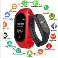 2021 Smart Wristbands M4 Smarts Band Fitness Tracker Watch Sport bracelet Heart Rate Watchs Fitbit Smartband Monitor Health Wristband