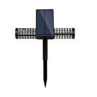 Outdoor Solar Light USB Rechargeable Solars Mosquito Killer Lamp Waterproof UV Lights For Villa Yard Garden Lawn Pest Fly Bug Zapper Lighting CRESTECH168