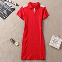 Frauen Sommerkleid Kurzarm Casual Style Kleider Kleidung