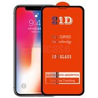 21D Tam Tutkal Ekran Koruyucu Temperli Cam Koruyucu Geçerli Kavisli Premium Kapak Guard Film Kalkanı iPhone 13 Pro Max 12 Mini 11 XS XR X 8 7 6 6 S Plus SE