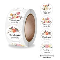 Thank You Gift For Flower Stickers Business Sealing Tag Stationery Box Diary Scrapbooking Paper Packing Label Decor Wrap