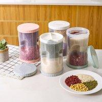 Storage Bottles & Jars Kitchen Sealed Box Cereal Dispenser Food Tank Rotating Dry Cups Container Case Flour Grain Bottle