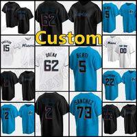 15 Brian Anderson Miami Custom 5 Jon Berti Jerseys Marlins 19 Miguel Rojas Baseball 23 Corey Dickerson 16 Jose Fernandez 55 Ryne Stanek